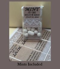 """NEW ~ Includes Candy Mints ~ Custom Wedding Favors """"Mint to Be"""" - 24 per order"""