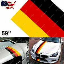 "59"" Germany Flag Stripe Car Hood Body Sticker For Audi BMW Mercedes MINI Porsche"