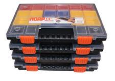 4 x NORP 14 L Sortiments-Kasten,Sortier-Box,Ordnungsbox,Magazin,Box mit Fächern