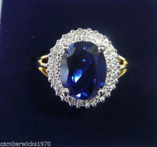 Silver Plated Sapphire Fine Rings