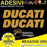 2 Adesivi Sticker DUCATI serbatoio 916 996 998 999 748 S PANIGALE FACTORY ORO