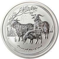 Australien 10 Dollar 2015 Jahr der Ziege Lunar II 10 Oz Silber Anlagemünze