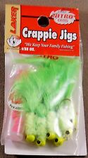 1 Pack Of 10 : 1/32 oz. Laker Crappie Jigs With NITRO Gems Premium Marabou Jigs