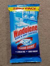 5 x Windolene Glass & Shiny Surfaces Streak-Free Window Wipes Pack of 30