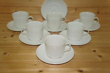 """Johnson Brothers Athena (6) Cups, 2 3/4"""" & (7) Saucers, 5 5/8"""""""