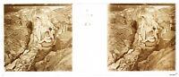 Montagne Ghiacciaio Foto P2n7 Stereo Placca Da Lente Vintage c1920
