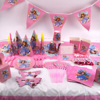 Sofia Birthday Party Girls Princess Kids Favor Tableware Decor Tablecloth Banner