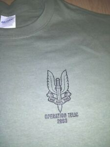 SAS REGIMENT OPERATION TELIC  T-SHIRT all sizes SPECIAL  FORCES