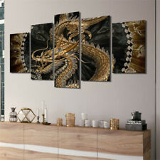 5 Piece Abstract Canvas Wall Art Modern Picture Poster Print Home Decor Unframed