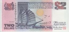 SINGAPORE  BANKNOTE P28   2 DOLLARS TDLR (1992)  UNCIRCULATED