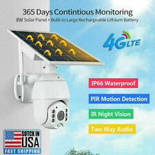 4G/WiFi 1080P HD Solar Power PTZ IP Camera Security CCTV Waterproof Outdoor USA