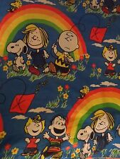 Vintage 1960's Peanuts Charlie Brown Snoopy Lucy Sally Twin Bedspread KITES