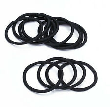 Women Elastic Hair Tie Band Rope Ring Ponytail Holder Nylon Black 12pcs ue52
