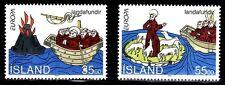 SELLOS TEMA EUROPA ISLANDIA 1994 DESCUBRIMIENTOS   2v.