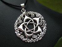 Pentagramm 925'er Silber Anhänger Weissmagisch Gothic Ketten Anhänger  / KA 071