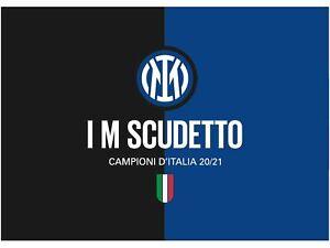 Bandiera Ufficiale Inter 100x140 NUOVO LOGO I M SCUDETTO CAMPIONI D'ITALIA 2021