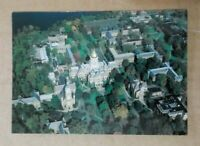 Printed Postcard - South Bend Indiana - Notre Dame Golden Dom Aerial View
