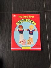 My Very First Paper Doll Book, Uncut, 1983 Whitman