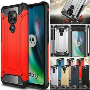 For Motorola Moto G9 Play Case, TOUGH Shockproof Armour Hard Back Phone Cover