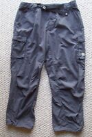 Mens Mountain Hardware 100% Nylon Belted Hiking Pants Gray XXL Outdoor