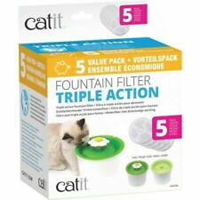 Catit 43746 Fountain Filter, White - 5 Pack