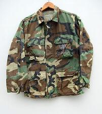 Vintage 90s Military Issue US Woodland Camo Camouflage Jacket Shirt XS Short