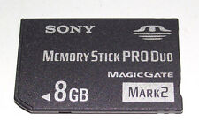 Sony 8GB Sony PSP Memory Stick Pro Duo Mark 2 Memory Card Camera Memory