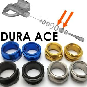 SHIMANO DURA ACE: 2 Bolts and Locknuts in Titanium - 43% lighter