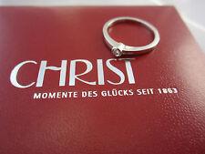 Christ Ring Solitärring aus Weißgold 585 mit Brillant inkl. Box