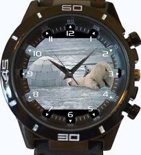 Reloj De Pulsera n Oso Polar Cachorro Gracioso Iglú Nueva Serie GT Deportes Unisex