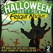 FRIGHT NIGHT HALLOWEEN PARTY PACK: MUSIC & SCARY STORIES BY POE (2-CD Set) NEW!!