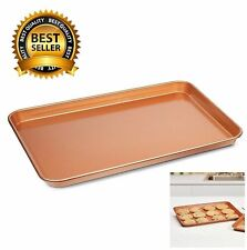 Copper Chef Cookie Sheet L (9X13) Non-Stick Baking Pan Set Bakeware Tray