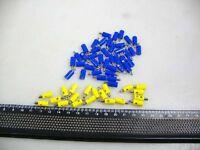60 gelbe/blaue Stecker für Märklin H0 Weichen #G1