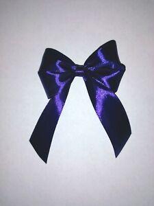 6x Luxury Purple Satin Ribbon Gift Bow Xmas Wedding Decoration Christmas