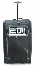 5 Cities Easyjet 56x45x25cm Cabin Approved Trolley Bag Hand Luggage Case 60 L Bk