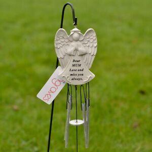 Dear Mum Guardian Angel Love & Miss You Graveside Memorial Wind Chime
