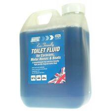 2 Litre Blue Eco Toilet Fluid Chemical Caravan Camping Motor home Boat Offer