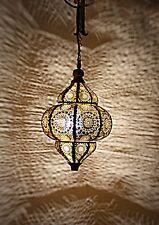 """Lantern Oriental Moroccan Lamp Hanging Pendant Light Metal Ceiling Lamp 12x7.5"""""""