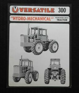 """1973 VERSATILE """"300 HYDRO-MECHANICAL 4WD TRACTOR"""" SPECIFICATIONS SALES BROCHURE"""
