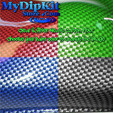 Hydrographics Dip Large Carbon Fiber Hydro dip Kit Clear & Silver CF-56-21