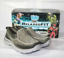 Youth Skechers Superior Melvin Casual Slip On Shoes Size 2 - 93891L/CHAR