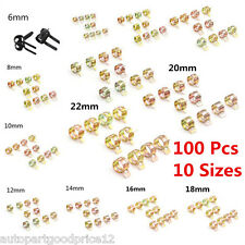 100x Fuel Line Hose Spring Clip Water Pipe Air Tube Clamp Fastener 6-22mm 10Size