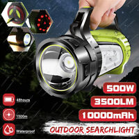 3500LM USB Rechargeable LED Work Light Torch Candle Power Spotlight Hand Lamp