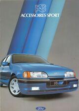 CATALOGUE VOITURE PUB. AUTO AD.CAR FORD RS ACCESSOIRES SPORT 1983  EN FRANCAIS