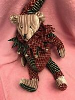 "RARE MARK ROBERTS COLLECTION BEAR PLUSH 20"" Jointed Bells Unused Free Gift"
