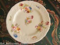 "Coalport England  set of 8 dessert white and floral plates 7"" diam[83]"
