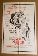 MAD MONSTER PARTY 1968 Genuine 27x41 1-sheet poster Rankin/Bass 68/239💀Frazetta