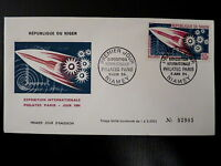 NIGER  AERIEN 42   PREMIER JOUR FDC      EXPO PHILATEC , FUSEE    50F      1964