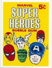 SUPER HEROES Bubble Gum Marvel   Retro Vintage HQ FRIDGE MAGNET