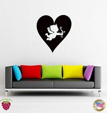 Wall Sticker Hearts Angel Cupid Romantic Decor for Bedroom  z1325